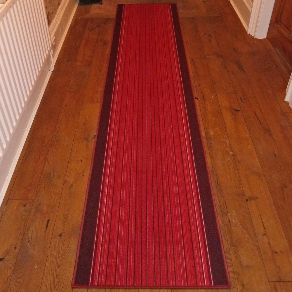 Red Foyer Rug : Red hall runner rug carnaby carpet runners uk