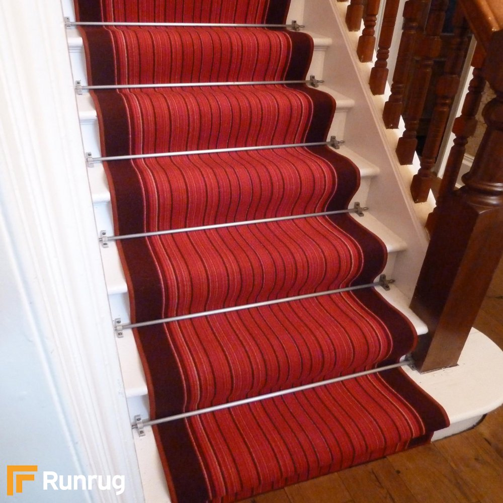 Replacing Carpet With A Stair Runner: Red Stair Carpet Runner