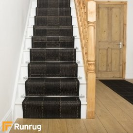 Check Black Stair Runner