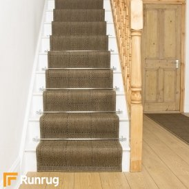 Check Brown Stair Runner