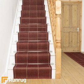 Check- Red Stair Runner