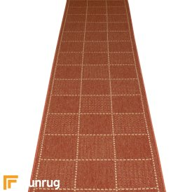 Check Terracotta Hall Runner