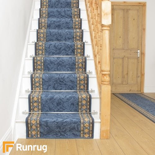 Cheops Blue Stair Runner