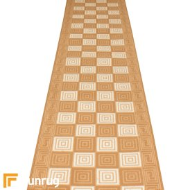 Chequer Beige Hall Runner