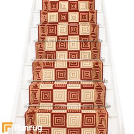 Chequer Red Stair Runner