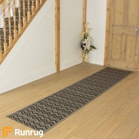 Chevron Brown Hall Runner