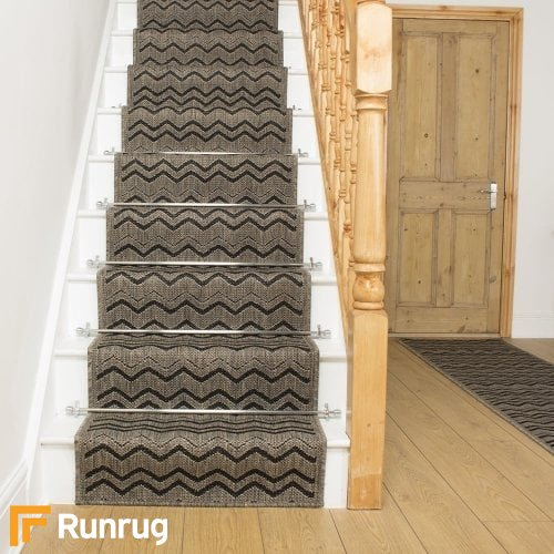 Chevron Brown Stair Runner
