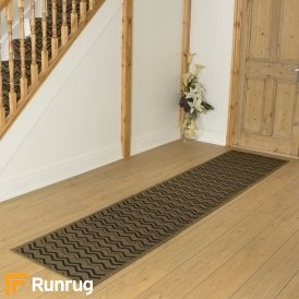Chevron Dark Brown Hall Runner