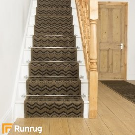 Chevron Dark Brown Stair Runner