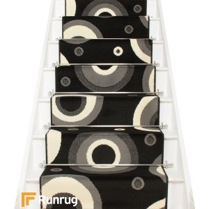 Circle Black Stair Runner
