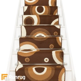 Circle Brown Stair Runner