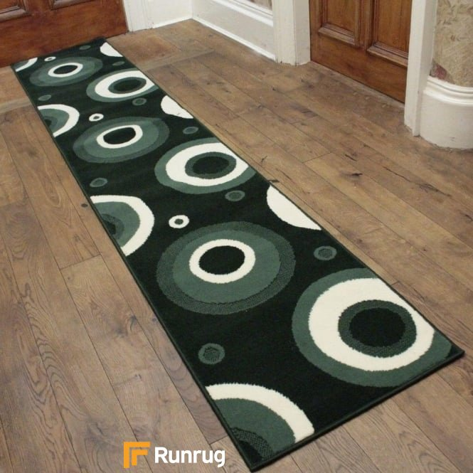 Circle Dark Green Hall Runner