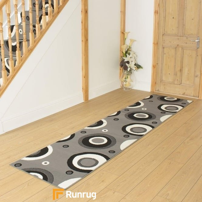 Circle Grey Hall Runner