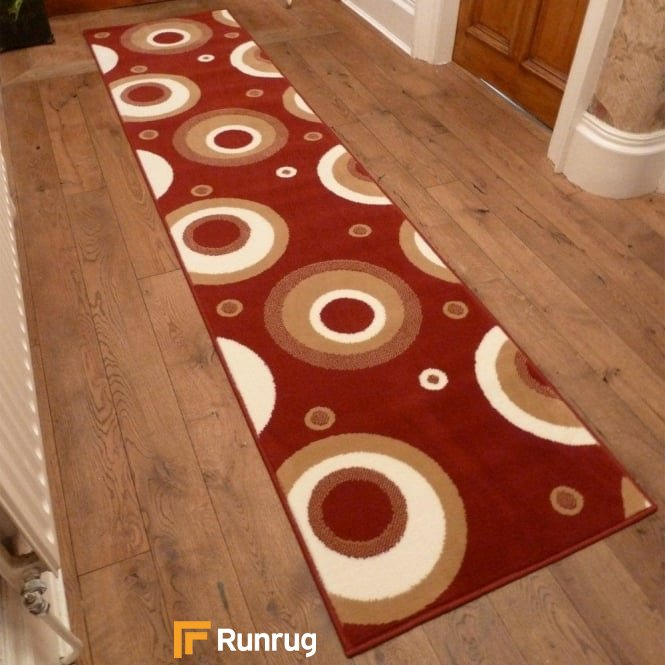 Circle Red Hall Runner