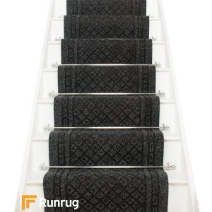 Conga Black Stair Runner