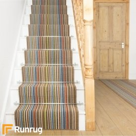 Contra Brown Stripe Stair Runner