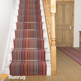 Contra Red Stripe Stair Runner