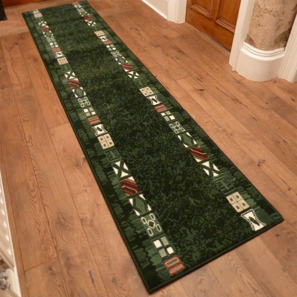 Green Hallway Carpet Runner