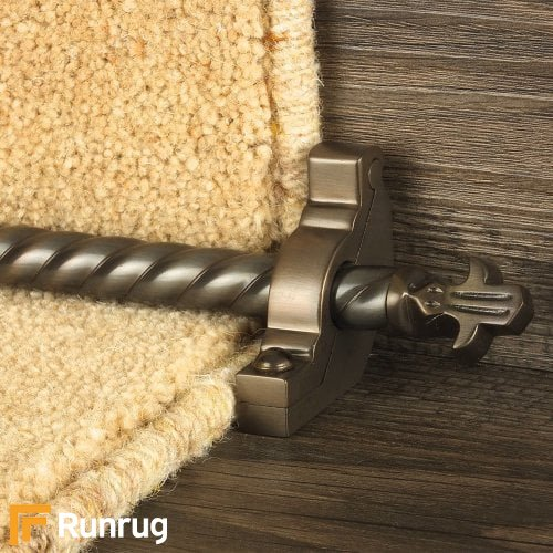 Country Bronze Finish Bordeaux Spiral Stair Carpet Runner Rods