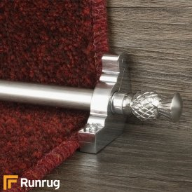 Country Brushed Chrome Finish Arran Plain Stair Carpet Runner Rods