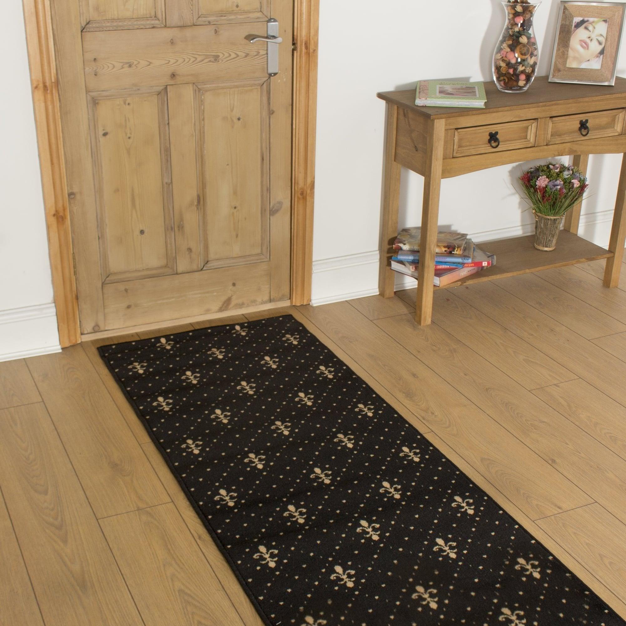 Crest black hall runner - Black carpet runners for hall ...