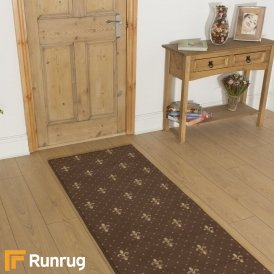 Crest Brown Hall Runner
