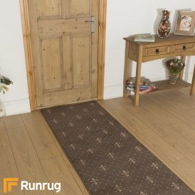 Crest Choco Taupe Hall Runner