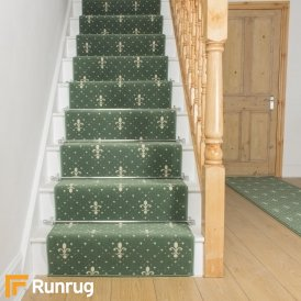 Crest Green Stair Runner