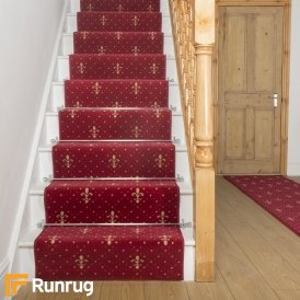 Crest Red Stair Runner