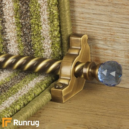 Crystal Antique Brass Finish Sky Spiral Stair Carpet Runner Rods