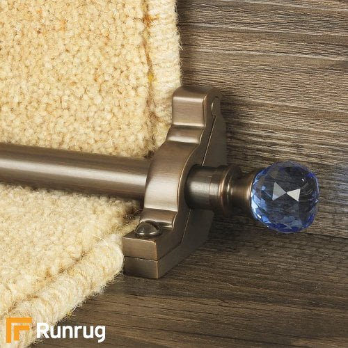 Crystal Antique Bronze Finish Sky Plain Stair Carpet Runner Rods