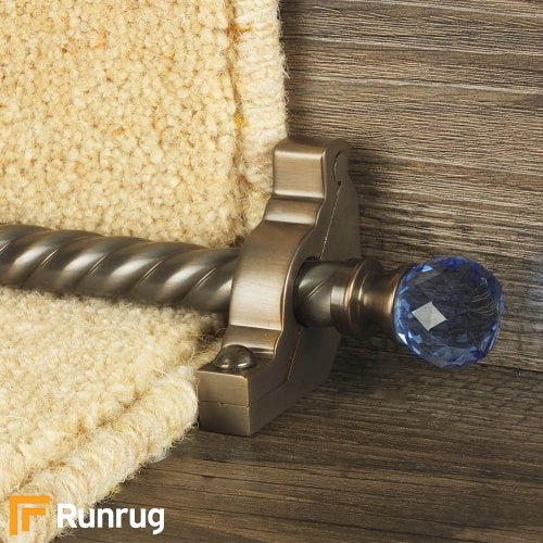 Crystal Antique Bronze Finish Sky Spiral Stair Carpet Runner Rods