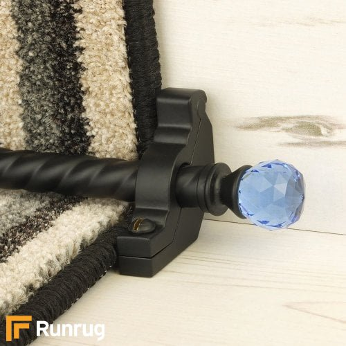 Crystal Black Finish Sky Spiral Stair Carpet Runner Rods