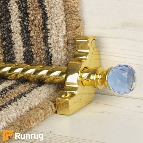 Crystal Brass Finish Sky Spiral Stair Carpet Runner Rods