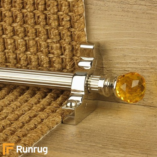 Crystal Polished Nickel Amber Reeded