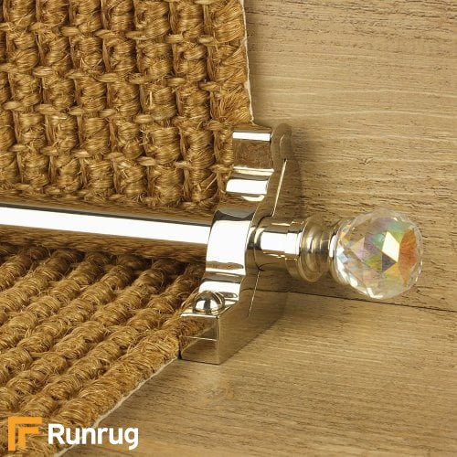 Crystal Polished Nickel Finish Rainbow Plain Stair Carpet Runner Rods