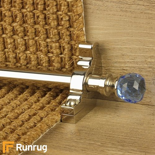 Crystal Polished Nickel Finish Sky Plain Stair Carpet Runner Rods