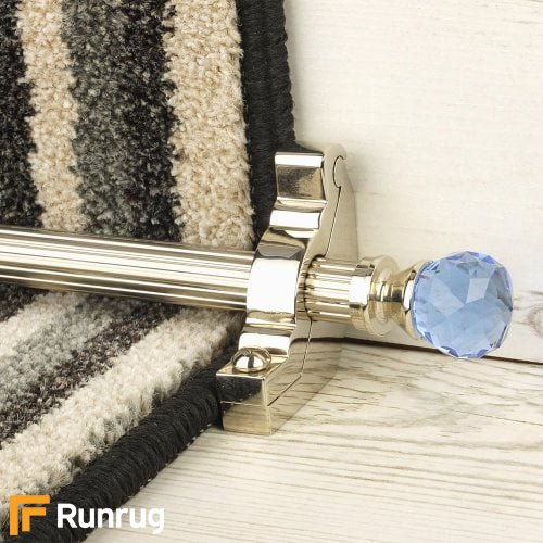Crystal Polished Nickel Finish Sky Reeded Stair Carpet Runner Rods