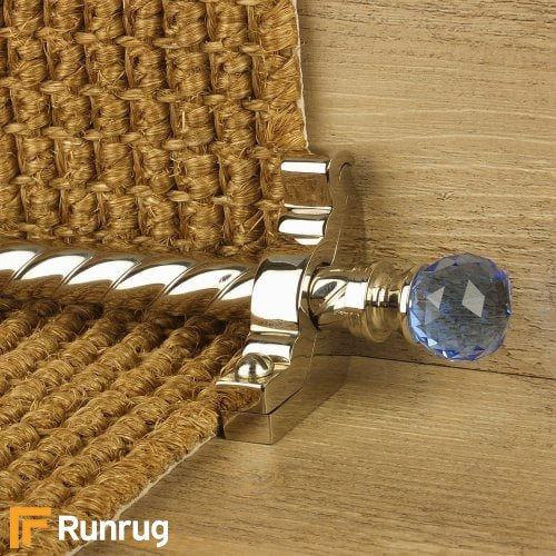 Crystal Polished Nickel Finish Sky Spiral Stair Carpet Runner Rods