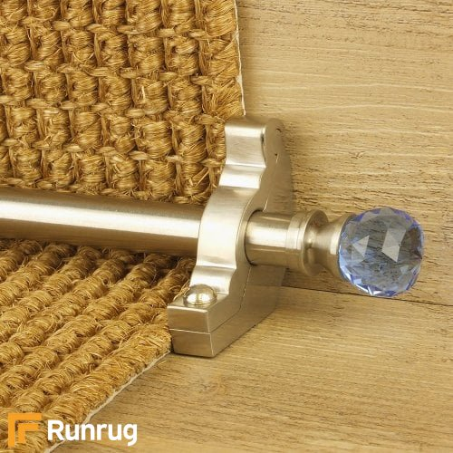 Crystal Satin Nickel Finish Sky Plain Stair Carpet Runner Rods