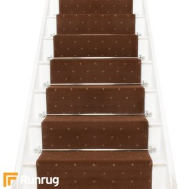 Dotty Brown Stair Runner