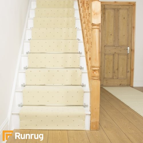 Dotty Cream Stair Runner
