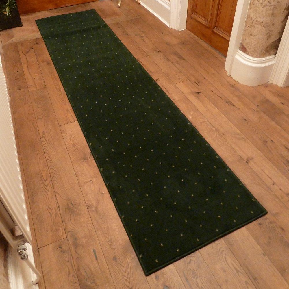 Green Hallway Carpet Runner Dotty
