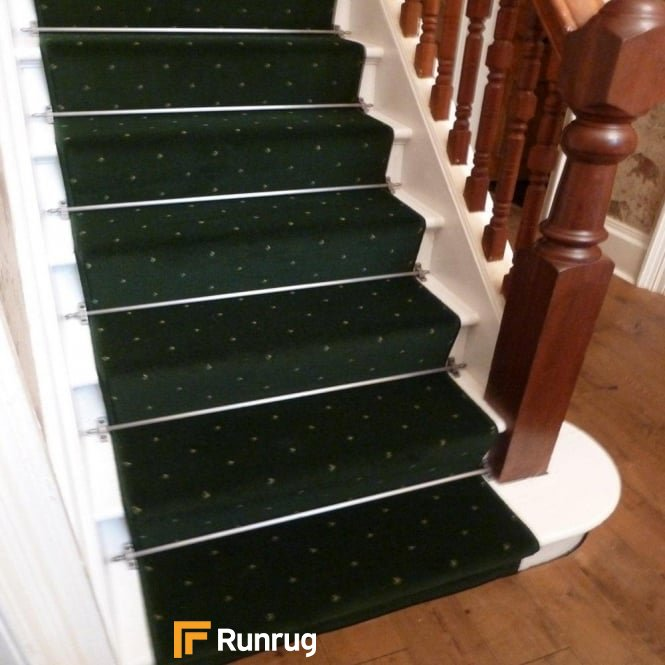 Dotty Dark Green Stair Runner