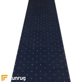 Dotty Navy Blue Hall Runner