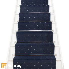 Dotty Navy Blue Stair Runner