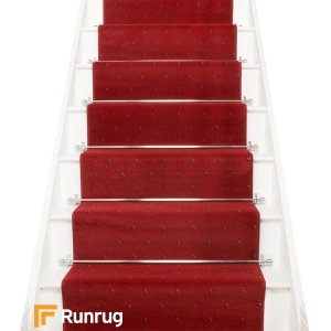 Dotty Red Stair Runner