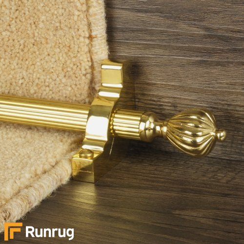 Eastern Promise Brass Finish Cairo Reeded Stair Carpet Runner Rods