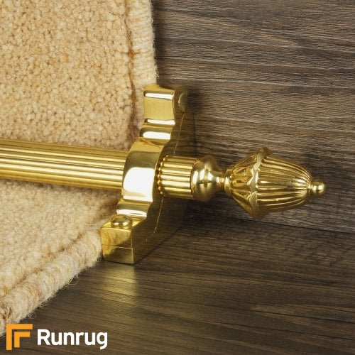 Eastern Promise Brass Finish Dubai Reeded Stair Carpet Runner Rods