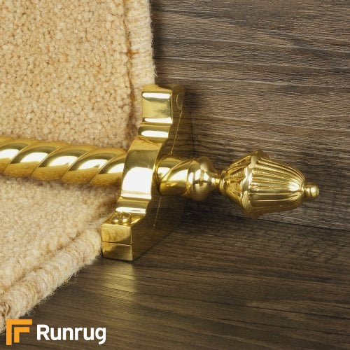 Eastern Promise Brass Finish Dubai Spiral Stair Carpet Runner Rods